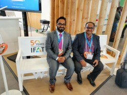 Al Ajwakh representatives at IFAT in Munich, Germany